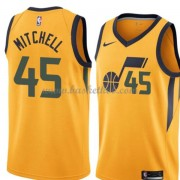 Utah Jazz Basketball Trøjer 2018 Donovan Mitchell 45# Statement Edition..