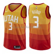 Utah Jazz Basketball Trøjer 2018 Ricky Rubio 3# City Edition..
