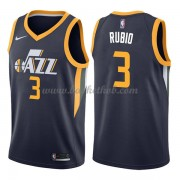 Utah Jazz Basketball Trøjer 2018 Ricky Rubio 3# Icon Edition..