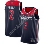 Billige Basketball Trøje Børn Washington Wizards 2019-20 John Wall 2# Marine blå Finished Statement ..