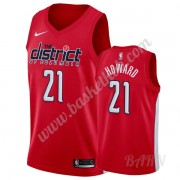 Billige Basketball Trøje Børn Washington Wizards 2019-20 Dwight Howard 21# Rød Earned Edition Swingm..