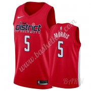 Billige Basketball Trøje Børn Washington Wizards 2019-20 Markieff Morris 5# Rød Earned Edition Swing..