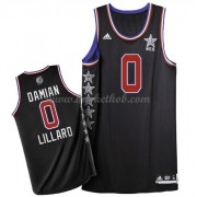 West All Star Game 2015 Damian Lillard 0# NBA Swingman Basketball Trøjer..
