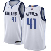 Dallas Mavericks Basketball Trøjer 2018 Dirk Nowitzki 41# Association Edition..
