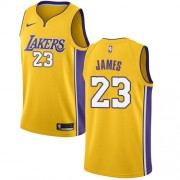 Los Angeles Lakers Basketball Trøjer 2018 LeBron James 23# Icon Edition..