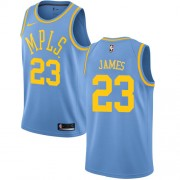 Los Angeles Lakers Basketball Trøjer 2018 LeBron James 23# Light Blue Hardwood Classics