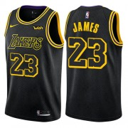 NBA Basketball Trøje Børn Los Angeles Lakers 2018 LeBron James 23# City Edition..
