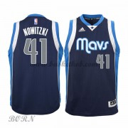 NBA Basketball Trøje Børn Dallas Mavericks 2015-16 Dirk Nowitzki 41# Alternate..