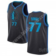 Billige Basketball Trøje Børn Dallas Mavericks 2019-20 Luka Doncic 77# City Edition Swingman..