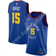 Billige Basketball Trøje Børn Denver Nuggets 2019-20 Nikola Jokic 15# Blå Statement Edition Swingman..