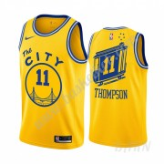 Billige Basketball Trøje Børn Golden State Warriors 2019-20 Klay Thompson 11# Gul Classics Edition S..