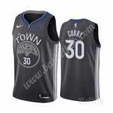 Billige Basketball Trøje Børn Golden State Warriors 2019-20 Stephen Curry 30# Sort City Edition Swingman
