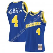 Golden State Warriors Basketball Trøjer NBA 1993-94 Chris Webber 4# Blå Hardwood Classics Swingman..