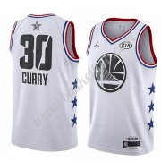 Golden State Warriors 2019 Stephen Curry 30# Hvid All Star Game Swingman Basketball Trøjer..