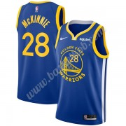 Golden State Warriors Basketball Trøjer NBA 2019-20 Alfonzo McKinnie 28# Blå Icon Edition Swingman..