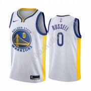Golden State Warriors Basketball Trøjer NBA 2019-20 D'Angelo Russell 0# Hvid Association Edition Swi..