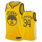 Golden State Warriors Basketball Trøjer NBA 2019-20 Shaun Livingston 34# Guld Earned Edition Swingma..