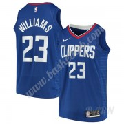 Billige Basketball Trøje Børn Los Angeles Clippers 2019-20 Lou Williams 23# Blå Icon Edition Swingma..