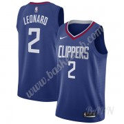 Billige Basketball Trøje Børn Los Angeles Clippers 2019-20 Kawhi Leonard 2# Blå Icon Edition Swingman