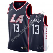 Billige Basketball Trøje Børn Los Angeles Clippers 2019-20 Paul George 13# Marine blå City Edition S..