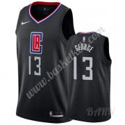 Billige Basketball Trøje Børn Los Angeles Clippers 2019-20 Paul George 13# Sort Statement Edition Sw..