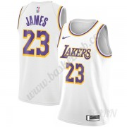 Billige Basketball Trøje Børn Los Angeles Lakers 2019-20 LeBron James 23# Hvid Association Edition Swingman
