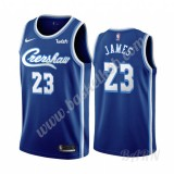 Billige Basketball Trøje Børn Los Angeles Lakers 2019-20 LeBron James 23# Blå Classics Edition Swingman