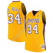 Los Angeles Lakers Basketball Trøjer NBA 1999-00 Shaquille O'Neal 34# Guld Hardwood Classics Swingma..