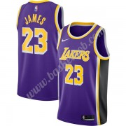 Los Angeles Lakers Basketball Trøjer NBA 2019-20 LeBron James 23# Lilla Replica Statement Edition Sw..