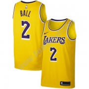 Los Angeles Lakers Basketball Trøjer NBA 2019-20 Lonzo Ball 2# Guld Icon Edition Swingman..