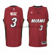 Miami Heat Basketball Trøjer 2015-16 Dwyane Wade 3# Alternate..