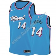 Miami Heat Basketball Trøjer NBA 2019-20 Tyler Herro 14# Blå City Edition Swingman..