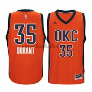 Oklahoma City Thunder Basketball Trøjer 2015-16 Kevin Durant 35# Orange Alternate..