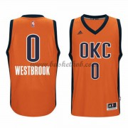 Oklahoma City Thunder Basketball Trøjer 2015-16 Russell Westbrook 0# Orange Alternate..