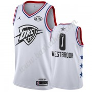 Oklahoma City Thunder 2019 Russell Westbrook 0# Hvid All Star Game Swingman Basketball Trøjer..