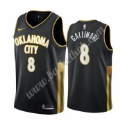 Oklahoma City Thunder Basketball Trøjer NBA 2019-20 Danilo Gallinari 8# Sort City Edition Swingman..
