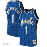 NBA Basketball Trøje Børn Orlando Magic Kids 2001-02 Tracy McGrady 1# Blue Hardwood Classics..