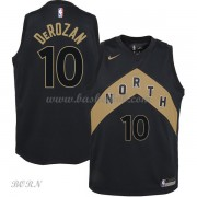 NBA Basketball Trøje Børn Toronto Raptors 2018 DeMar DeRozan 10# City Edition..