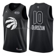 Toronto Raptors DeMar DeRozan 10# Sort 2018 All Star Game Swingman Basketball Trøjer..