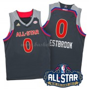 West All Star Game 2017 Russell Westbrook 0# NBA Swingman Basketball Trøjer..